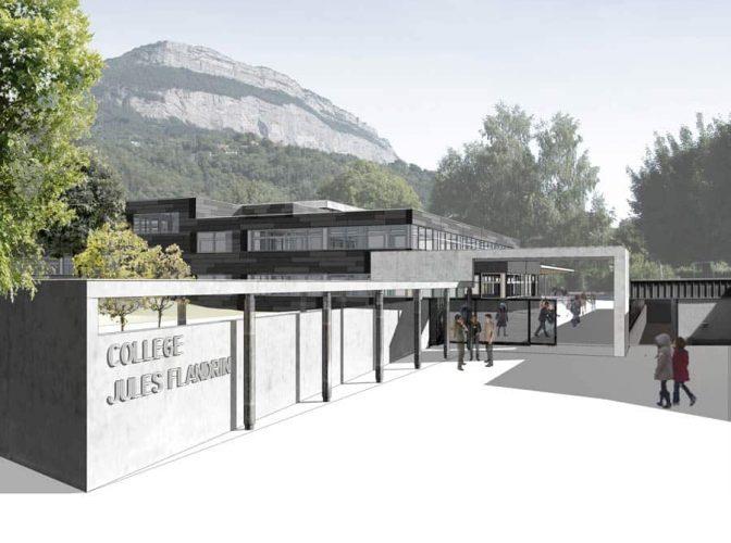 Réhabilitation du Collège Jules Flandrin à Corenc