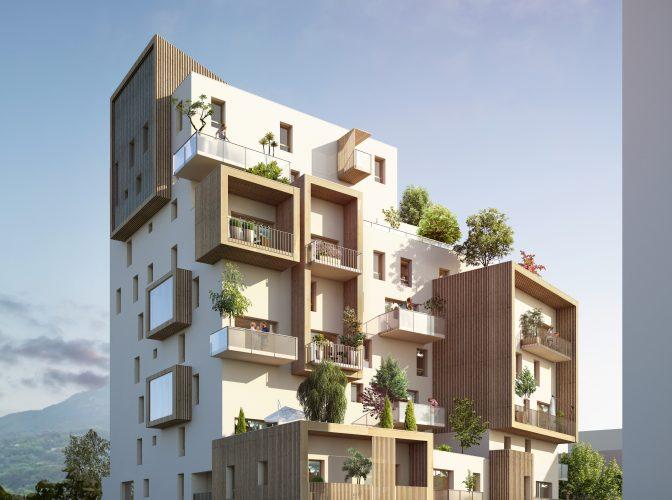 Construction de 53 logements ILOT CB1 – ZAC PRESQU'ILE à GRENOBLE