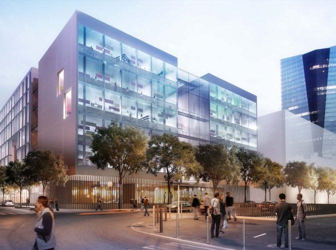 Construction de l'université régionale des métiers à Marseille