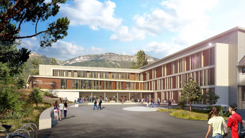 Rénovation et extension du collège Marcel Cuynat à Monestier de Clermont