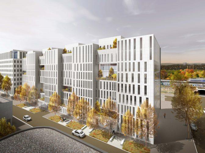 Construction du bureaux Parkview à Villeurbanne