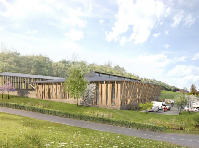 Construction du nouveau centre technique municipal de l'Isle d'Abeau