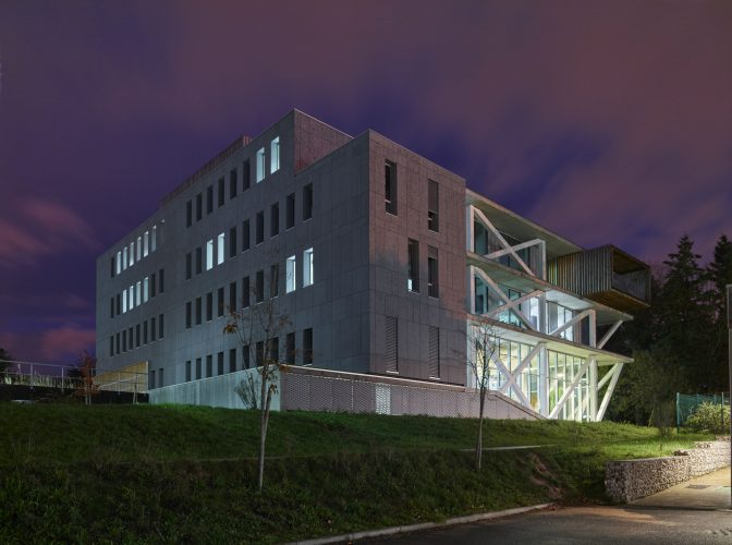 Construction du siège social de la fédération du Bâtiment à Saint Herblain