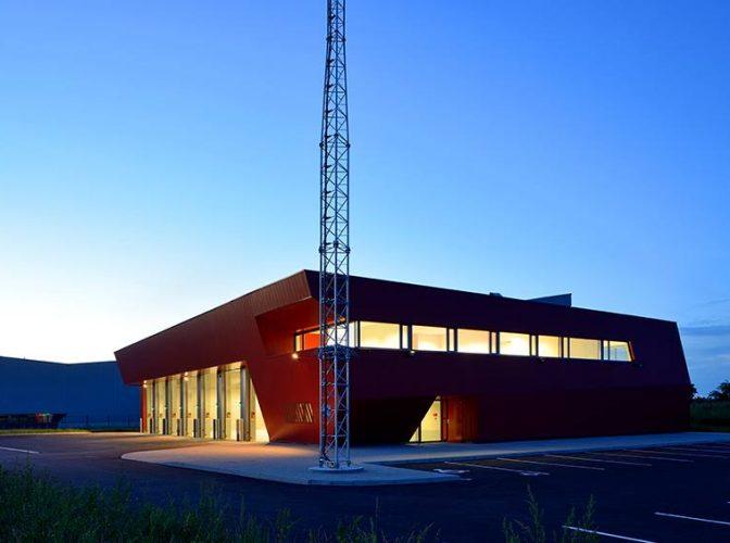 Construction du centre d'incendie et de secours de Genas Chassieu