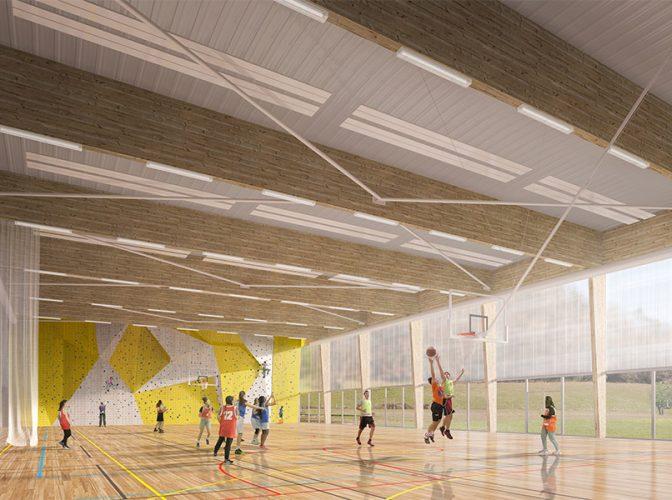 Construction du nouveau collège à Champier