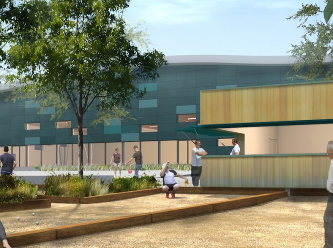 CONSTRUCTION D'UN COMPLEXE SPORTIF AVEC AMENAGEMENTS EXTERIEURS à PUSIGNAN