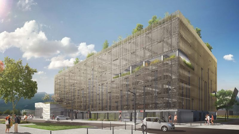 CONSTRUCTION DU PARKING AÉRIEN PAVILLON DE LA MOBILITÉ à GRENOBLE (38)