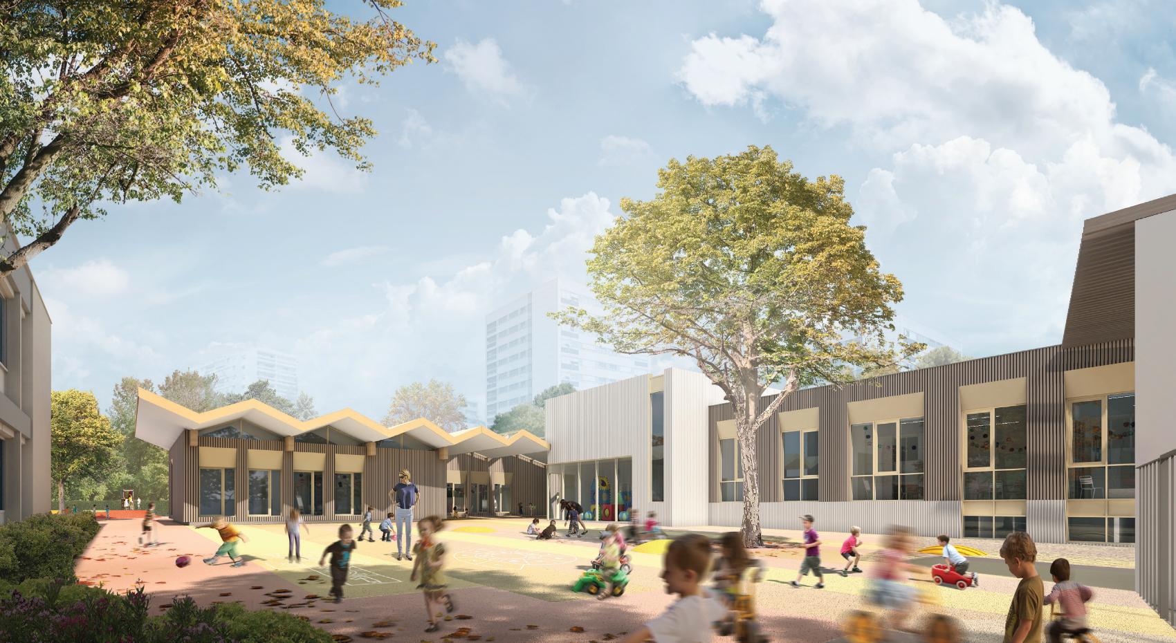 Restructuration et extension de l'école maternelle La Velette à Rillieux La Pape