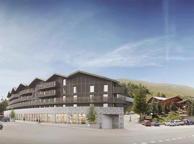 Construction d'une résidence de tourisme de 201 appartements, commerces aux Deux Alpes