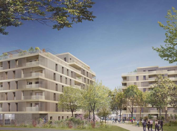 Construction de 50 logements locatifs aidés, 16 logements accession sociale + locaux tertiaires – Ilôt des Trois Places à Annemasse