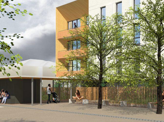 Démolition logements, reconstruction maisons individuelles + immeuble collectif – La Madeleine à Montbrison