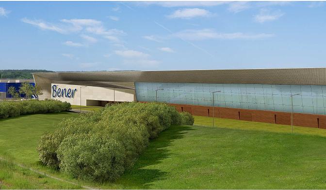 Construction d'un centre commercial Leclerc – Bener à Yvre sur L'évêque